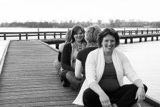 Vriendinnen samen zwanger fotoshoot