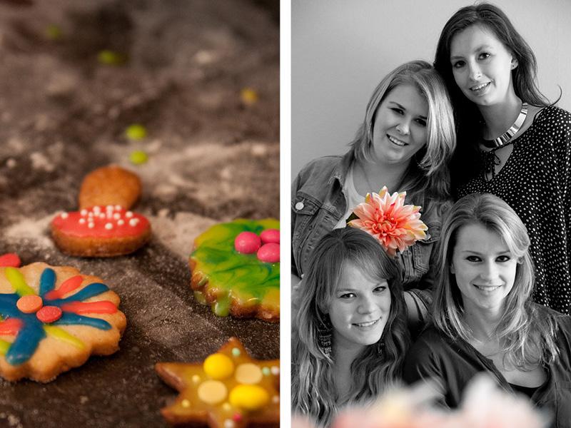 Kleurrijke zelfgemaakte koekjes