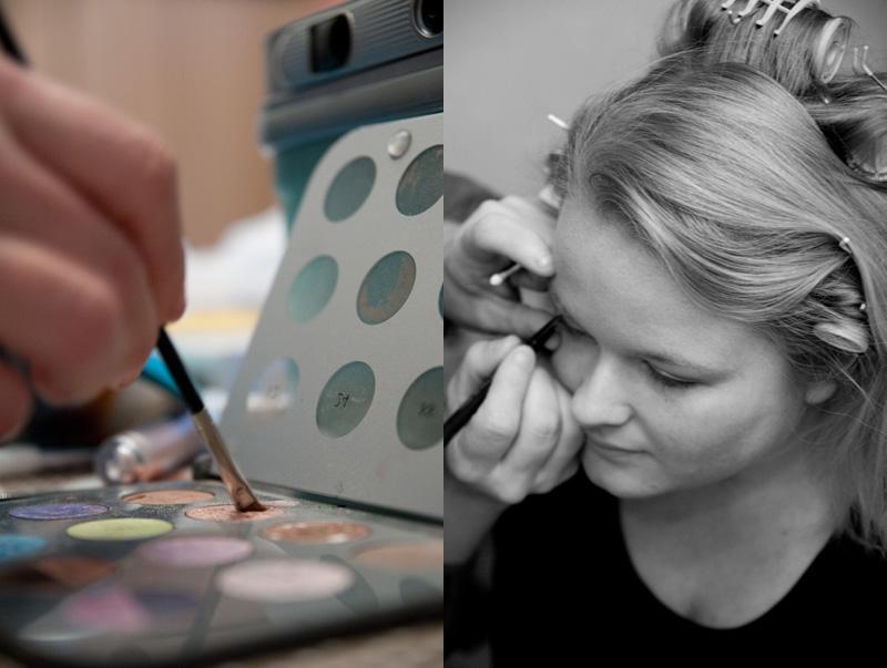 Voorbereidingen bruid: Make-up