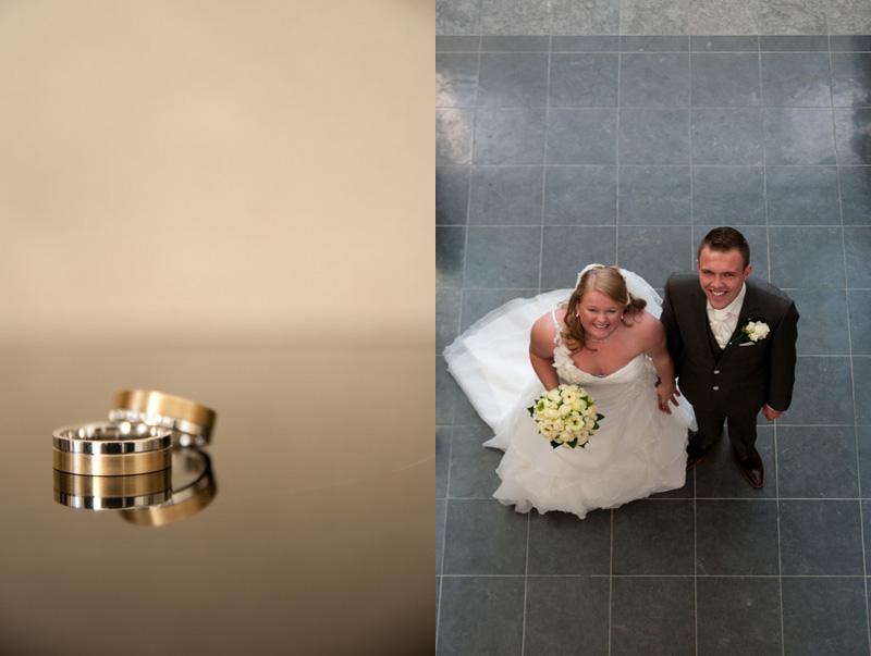 Entree bruidspaar in gemeentehuis Tholen