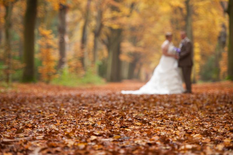 Bruidsreportage landgoed Lievensberg met prachtige herfstkleuren