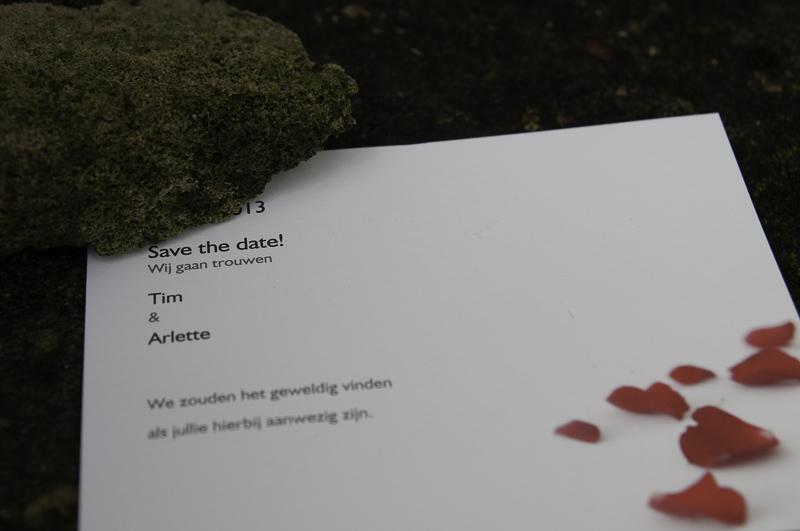 Save-the-Date kaart Tim & Arlette
