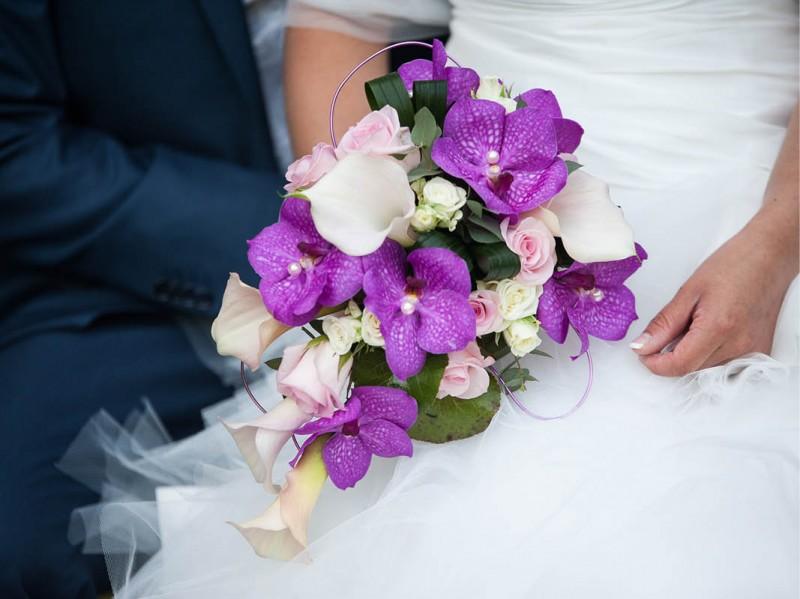 Bruidsboeket orchideeën