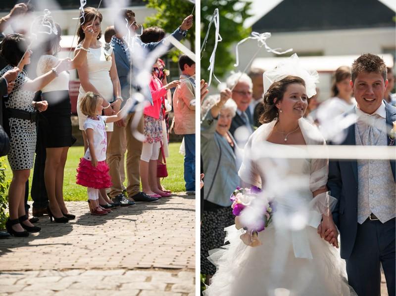 Erehaag voor het bruidspaar
