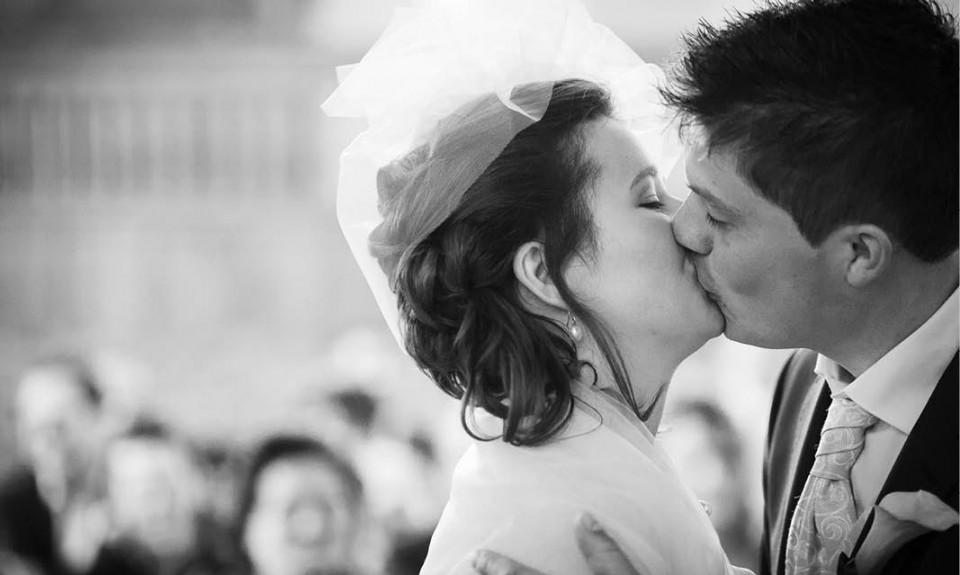 Huwelijksvoltrekking in de Johanneskerk in Kruiningen