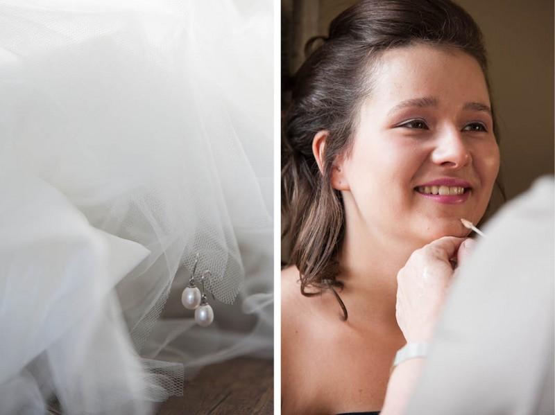 Bruidsmake-up en sieraden