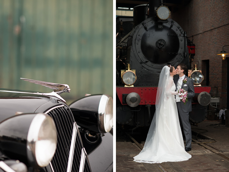 bruidsreportage treinmuseum Goes