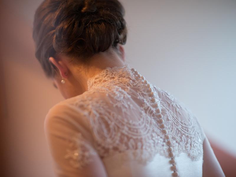 Tijdloos plaatje van een klassieke bruid