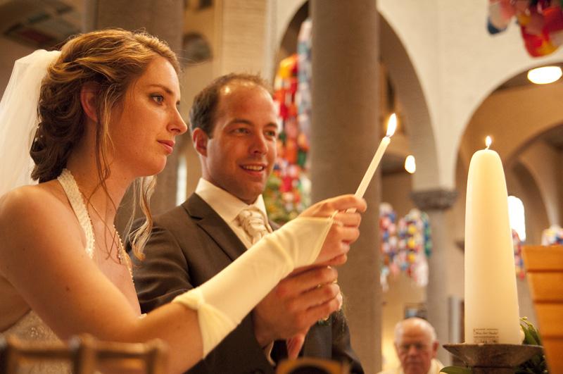 Aansteken huwelijkskaars