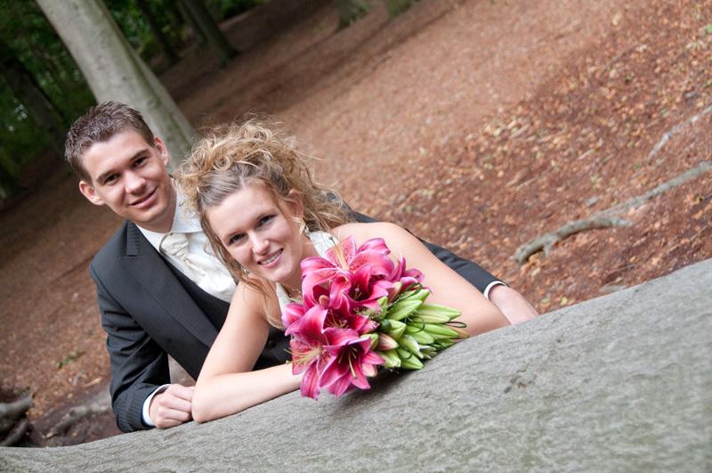 Bruidsreportage heidetuin Bergen op Zoom