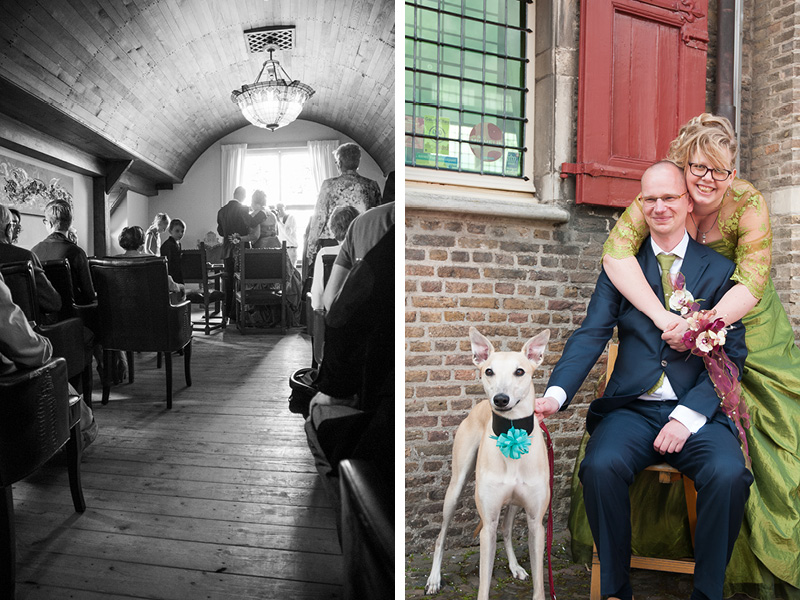 Huwelijksvoltrekking in het Oude Raadhuis in Halsteren