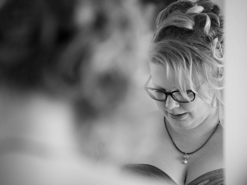 Voorbereidingen bruid