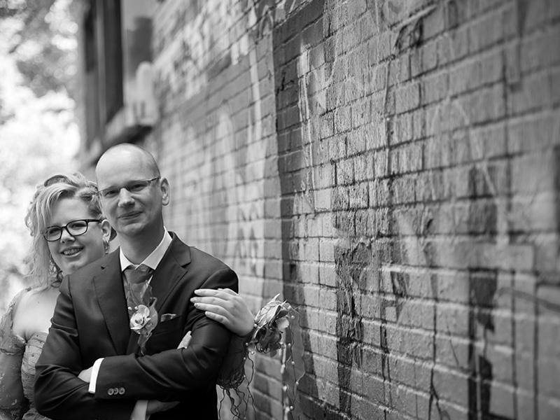 Bruidsreportage Hoogerheide graffiti