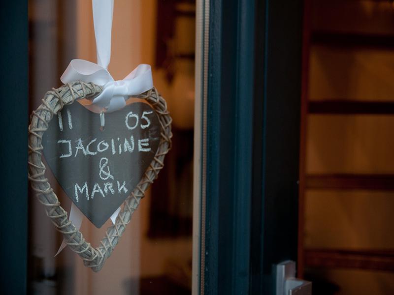 Bruiloft leuk detail