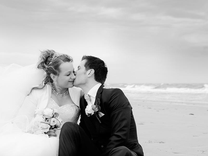 Huwelijksreportage op het strand