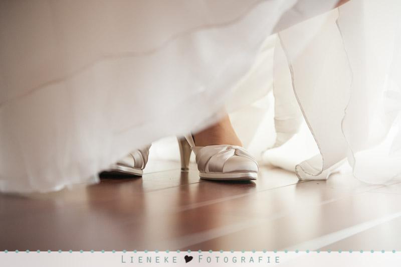 Bruidsschoenen tegenlicht