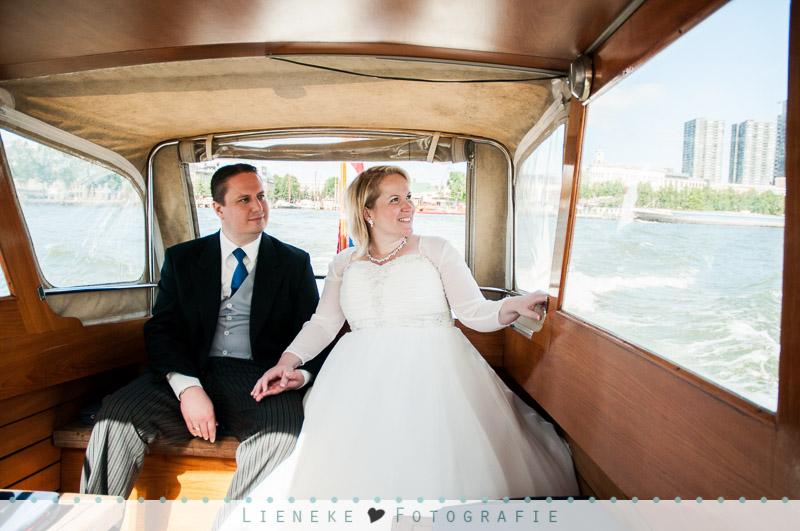 Bruidspaar watertaxi Rotterdam