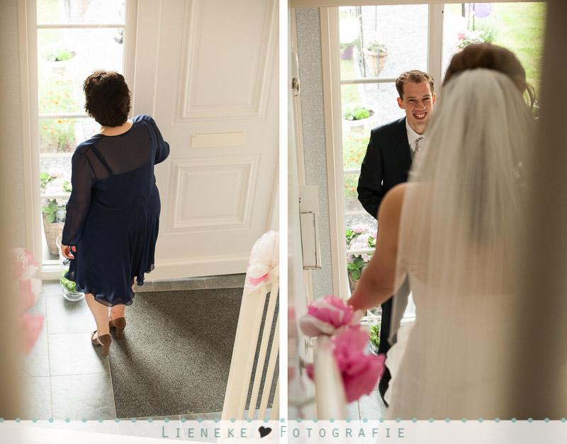 Bruidsfotografie first-look