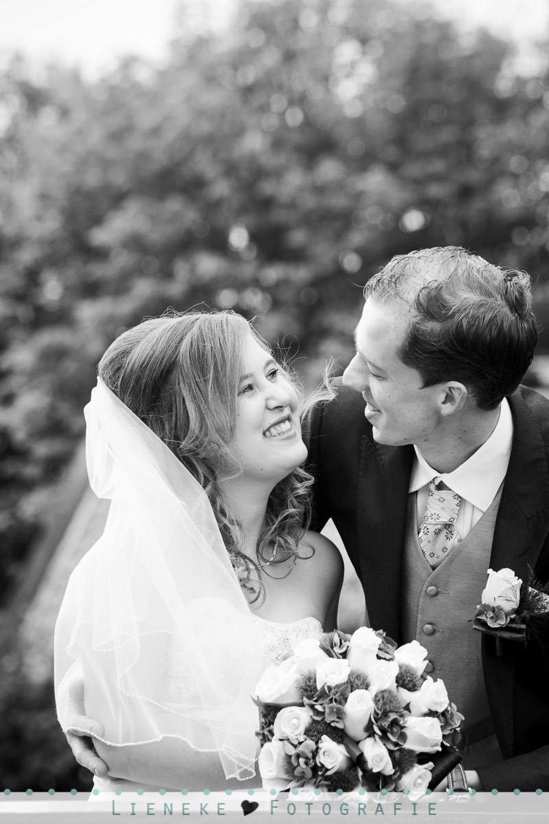 Bruidsreportage zwart-wit