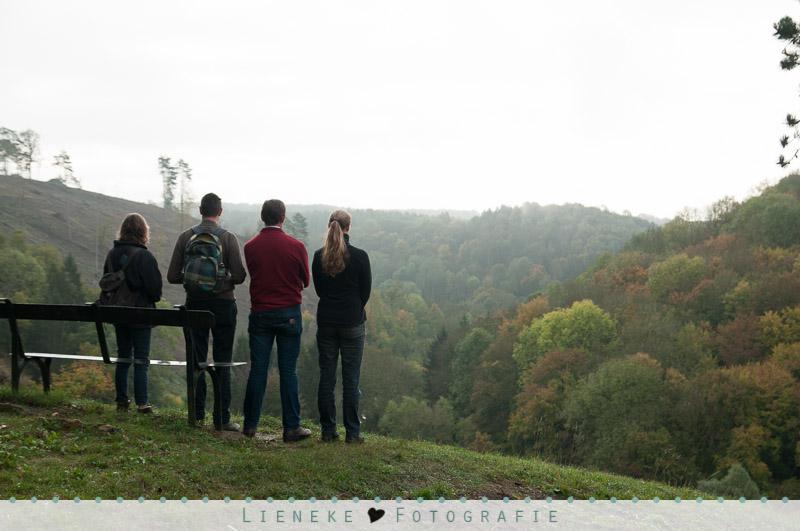Mooi uitzicht in de Ardennen