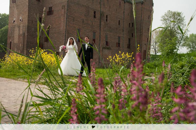 Bruidsfotografie slot Loevestein