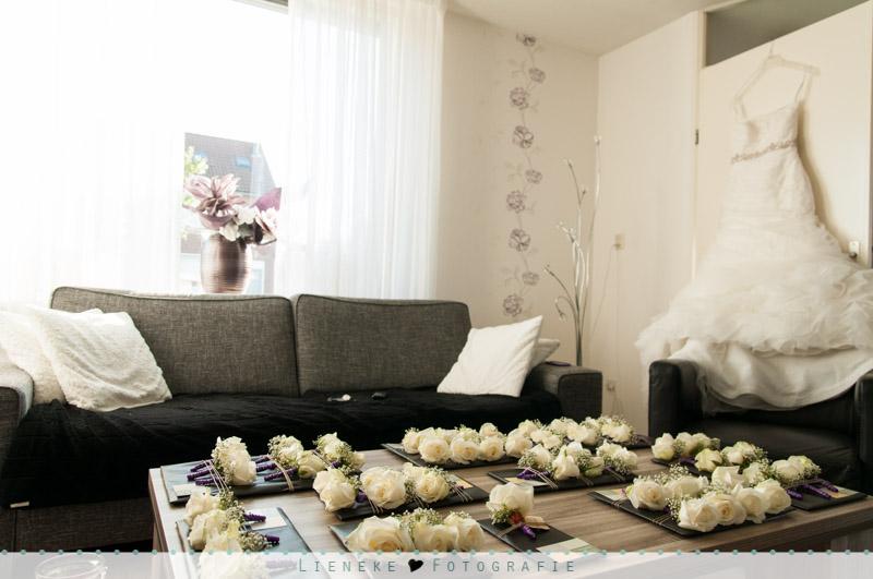 Bruidsfotografie corsages rozen