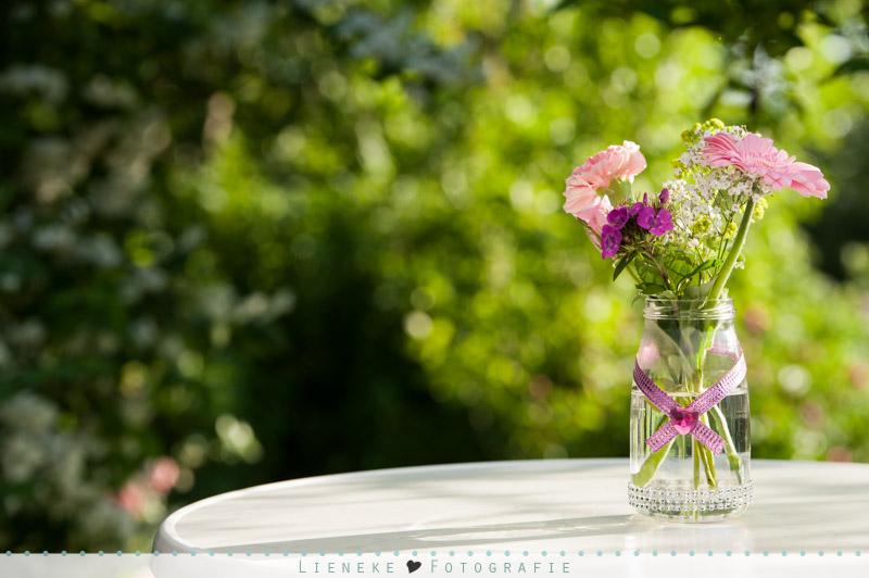 Tafel boeketje bruiloft