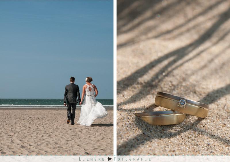 Bruidsfotografie Renesse strand