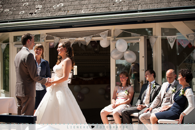 Bruidsfotografie trouwen restaurant de Knip
