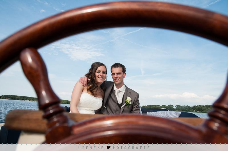 Bootje varen bruiloft