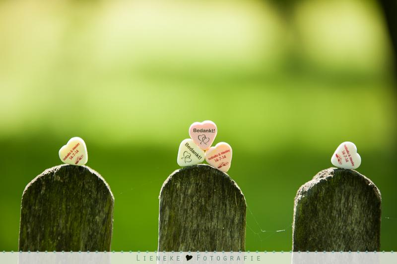 bruiloft bedankjes snoepjes met eigen opdruk
