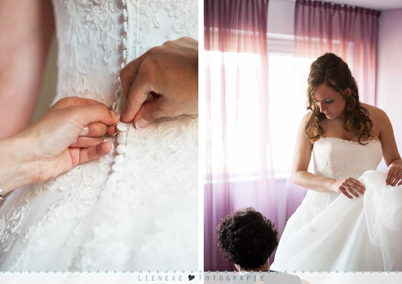 Bruiloft voorbereidingen bruid