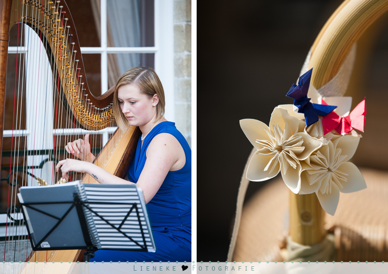 Harp bruiloft ceremonie