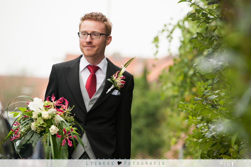 Bruidegom trouwboeket