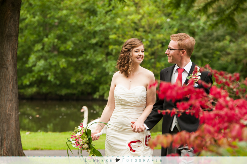 bruidsfotografie van Bergen IJzendoornpark
