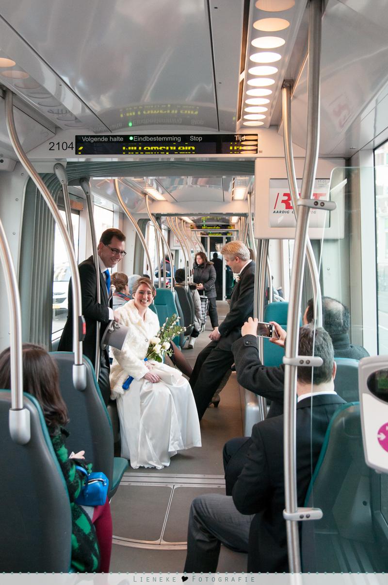 Met de tram op je trouwdag
