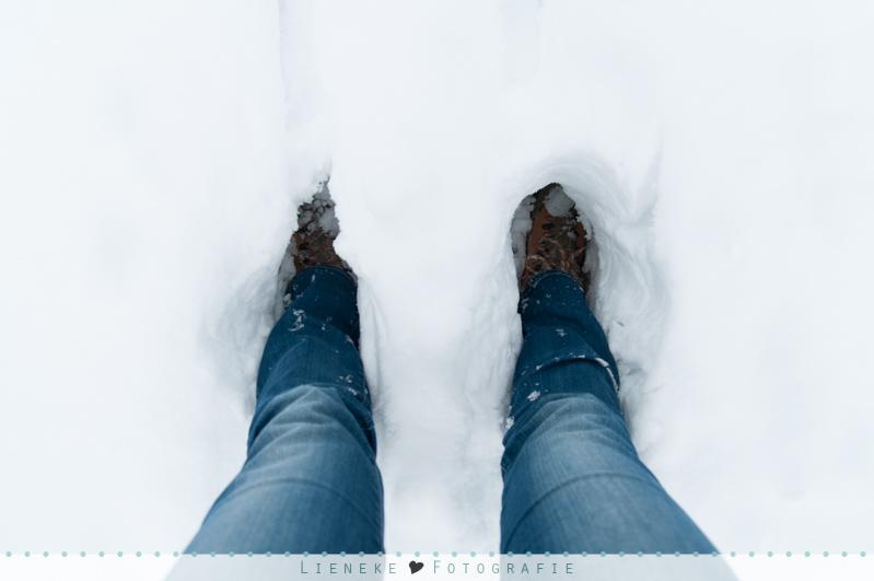 Lieneke in de sneeuw :-)