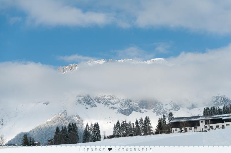 Fotoshoot in de sneeuw